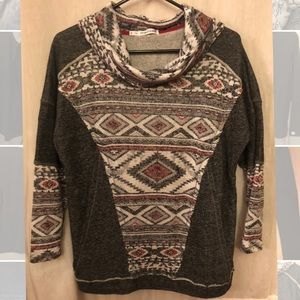 Maurices Southwestern Cowl Neck Top - Size 0
